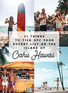 21 epic things to tick off your bucket list on the island of Oahu, Hawaii - Mexico Travel, Spain Travel, Hawaii Travel, Adventure Bucket List, Adventure Travel, Beach Fun, Beach Trip, Oahu Hawaii, Hawaii Beach