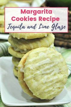 A perfect way to celebrate Cinco De Mayo is with a margarita in one hand and one of these Margarita Cookies in the other, featuring a Tequila Glaze Recipe! Baking Recipes, Cookie Recipes, Dessert Recipes, Dessert Bars, Easy Recipes, Margarita Cookies Recipe, Brownies, Delicious Desserts, Yummy Food