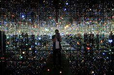"""Infinity Room"" at The Broad Museum, Los Angeles, California, 2015 Infinity Mirror Room, Infinity Room, Led Light Installation, The Broad Museum, California Architecture, Los Angeles Neighborhoods, Yayoi Kusama, Light Year, Chant"