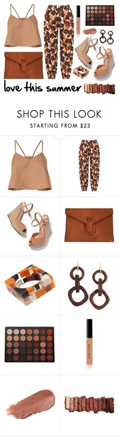 """Love this summer"" by yutsu ❤ liked on Polyvore featuring TIBI, Isolde Roth, Schutz, Yves Saint Laurent, NEST Jewelry, Morphe, Bobbi Brown Cosmetics, Kjaer Weis and Urban Decay"