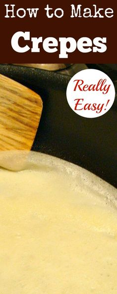 How to Make Crepes, Thin Pancakes. Quick & Easy guide with lots of filling suggestions too! Great if you How to Make Crepes (Thin Pancakes) Quick & Easy guide with lots of filling suggestions too! Great if you need a 'quick fix' dessert too! Popular Recipes, New Recipes, Cooking Recipes, Favorite Recipes, Easy Recipes, Light Recipes, Amazing Recipes, Easy Cooking, Gourmet