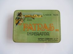 Excited to share the latest addition to my #etsy shop: Patras Imperator Egyptian cigarette tin (20/empty) by Simon Cabilios & Co c.1920 http://etsy.me/2EmDzSL #vintage #collectables #cigarettetins #tobaccocollectibles