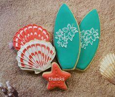 Beach / Surfboard Cookies