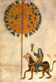 "berndwuersching: "" Beatus of Liébana The Whore of Babylon Gerona Beatus (a 10th century illuminated manuscript) """