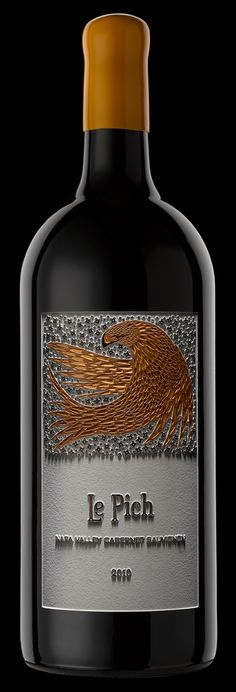 Label / Le Pich Cabernet Sauvignon by Etched Images This is beautiful #wine #packaging PD