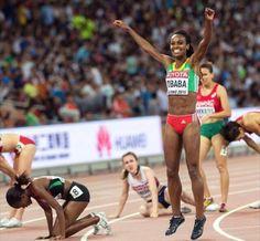 Boom! The beautiful Genzebe Dibaba wins again