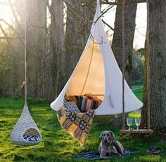 Ah, the art of glamping. Combining chic ideas with the outdoors, glamping is a way to have fun and be comfortable. Not quite camping yet not quite a s. Outdoor Fun, Outdoor Spaces, Outdoor Decor, Outdoor Lounge, Outdoor Beds, Outdoor Camping, Outdoor Furniture, Wicker Furniture, Garden Furniture