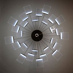 KRONLEUCHTER LAMP BY DENISE HACHINGER - It actually opens & closes too.