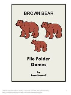 Brown Bear File Folder Game