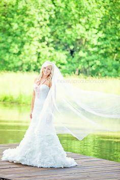 Bridal portraits on a dock // thekellysproductions.com