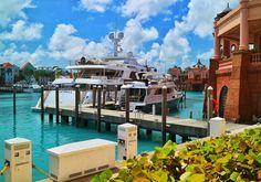 Luxury yacht Skyfall at Paradise Island harbour / Nassau!