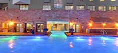 The Peaks Resort pool deck Telluride Hotels, Fire Festival, Spa, Deck, Swimming, Mansions, House Styles, Places, Outdoor Decor