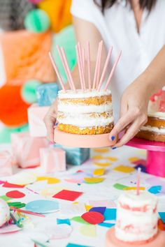 DIY Naked Cakes for