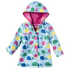 Infant Toddler Girls' Whale Raincoat.. I think the little lady will need this for spring:)
