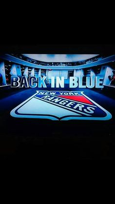 NYR - Back in Blue Hockey Season is Back! Go Rangers
