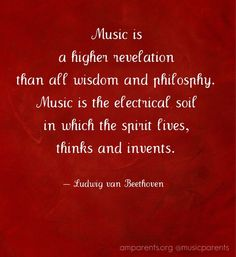 music is a higher revelation