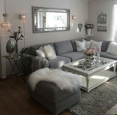 46 Magnificent Apartment Living Room Decorating Ideas On A Budget - Diy Wohnzimmer Cozy Living Rooms, Living Room Grey, Home Living Room, Living Room Designs, Living Room Themes, Apartment Living Rooms, Grey Living Room Furniture, Apartment Ideas, Living Room Ideas Grey And White