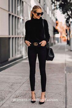 Fashion Jackson Wears Black Chenille Mock Neck Sweater Black Skinny Jeans B . - Mode Jackson wears black chenille mock neck sweater black skinny jeans Bla … – Fits your own st - Fashion Looks, Work Fashion, Fashion Ideas, Fashion Clothes, Fashion Fashion, Feminine Fashion, Style Clothes, Fashion Dresses, Classic Fashion Outfits