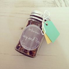 SAMPLE Tea Wedding Favour Jars: 3 Jar SAMPLE Little Tea Gift Present Party Shower Hen Bachelorette on Etsy, $17.61