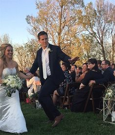 Shawn Johnson & Andrew East Are So Cute Walking Down the Aisle at Their Wedding  Shawn Johnson, Andrew East, Wedding
