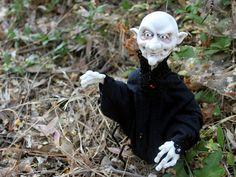 OOaK Polymer Clay Vampire Art Doll Horror Sculpture by oddfae, $250.00