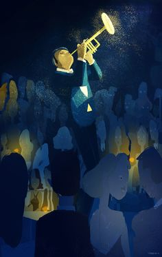 pascalcampion:    The Tune  I've done images like this before..I just love the way Jazz feels!