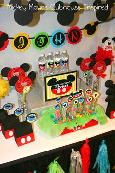 Mickey Mouse Birthday party Idea - by Party On!