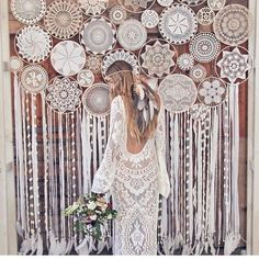 Wedding Boho Backdrop Flower Ideas For 2019 Boho Backdrop, Diy Wedding Backdrop, Flower Backdrop, Diy Wedding Decorations, Festival Decorations, Backdrop Ideas, Paper Backdrop, Boho Wedding, Dream Wedding