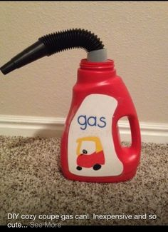 "Homemade ""gas can"" for toy cars"