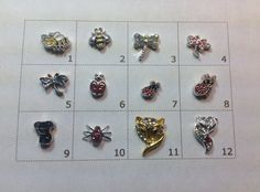 ANIMALS floating charm pick one by JMLReflections on Etsy