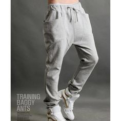 FREE SHIPPING STYLISH TRAINING BAGGY PANTS FLYING SQUIRREL CARGO PANTS FASHION CASUAL SPORT found on Polyvore
