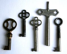 Antique Keys Pendant Key Pendant by HornetAntiques on Etsy