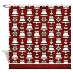 Christmas Holiday Bells Shower Curtain D31