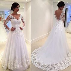 White Vintage Wedding Gowns Lace Long Sleeve Open Back A Line Sexy Indian Bridal Dresses Backless Country Robe de mariage Z376