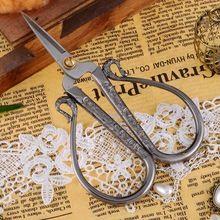 1 PC europeu do Vintage de aço inoxidável Tailer tesoura de costura para roupas tecido artesanato de alta qualidade DIY Accessories10x6.5cm(China (Mainland))