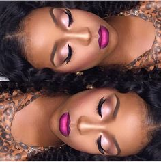 Pinterest: @Natrulique Hair & Holistic Beauty marked by Joelle. Houston MUA. African American makeup.
