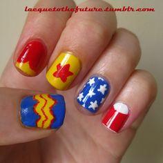 Wonderwoman! Future, Love Nails, My Nails, Manicures, Nail Art, Beauty, Wonder Woman, Nail Polish, Beleza