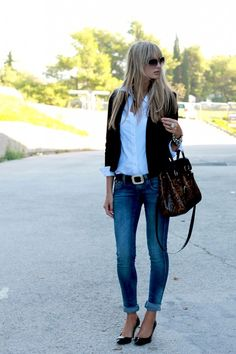 I DO like this look...    Classic - Click image to find more Women's Fashion Pinterest pins