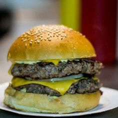 A double cheeseburger from Bleecker St Burger, London | 17 Burgers You Must Try Before You Die