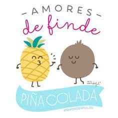 ¿Mi mayor amor? La piña colada!!! www.mrwonderfulshop.es #piñacolada #cocktails #illustration