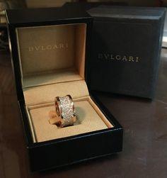 BULGARI 18K ROSE GOLD 2.19CT DIAMONDS B.ZERO 1 RING