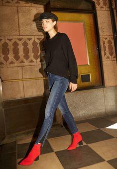 96ebc36342dc2 Alana High-Rise Cropped Super Skinny In Dark Torrent. True JeansBlue  SuedeSuper SkinnyJ BrandFashion ...