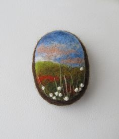 Needle felted brooch Sunset. от FeltAccessories на Etsy