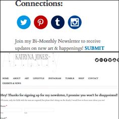 Exciting Website Updates - Newsletter now available! on Behance www.KatrynaJones.com