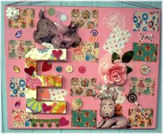 This Scottie Dog Pink Collage is so cute!