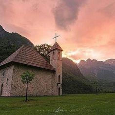 The mountains of the north. Photo by: @erald.kraja  #beauty_of_albania #albania #shqiperia #church #theth #shkoder #religion #sunset #mountains #europe #ig_europe #traveleurope #travel #tourist #tourism #investinalbania #invest #visitalbania #visit #explore #coloursofalbania #colorsofalbania #vision #balkan #photo #photography #photooftheday