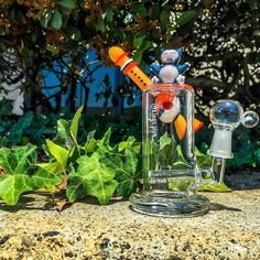 """EMPIRE GLASSWORKS - """"POKEFLUTE"""" THEMED SIDECAR DAB RIG  This cool rig from @empireglassworks is available on our online HeadShop!  KINGS-PIPE.COM  #kingspipe"""