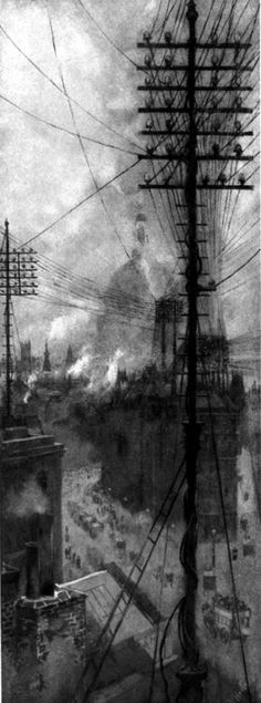 William Hyde, The Nerves of London, photogravure, 1898