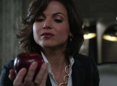 Once upon a time. Evil Queen + Apple. I wonder where that's going...