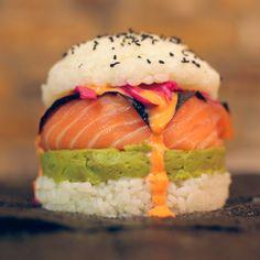 Ahi sushi burger via /r/food...